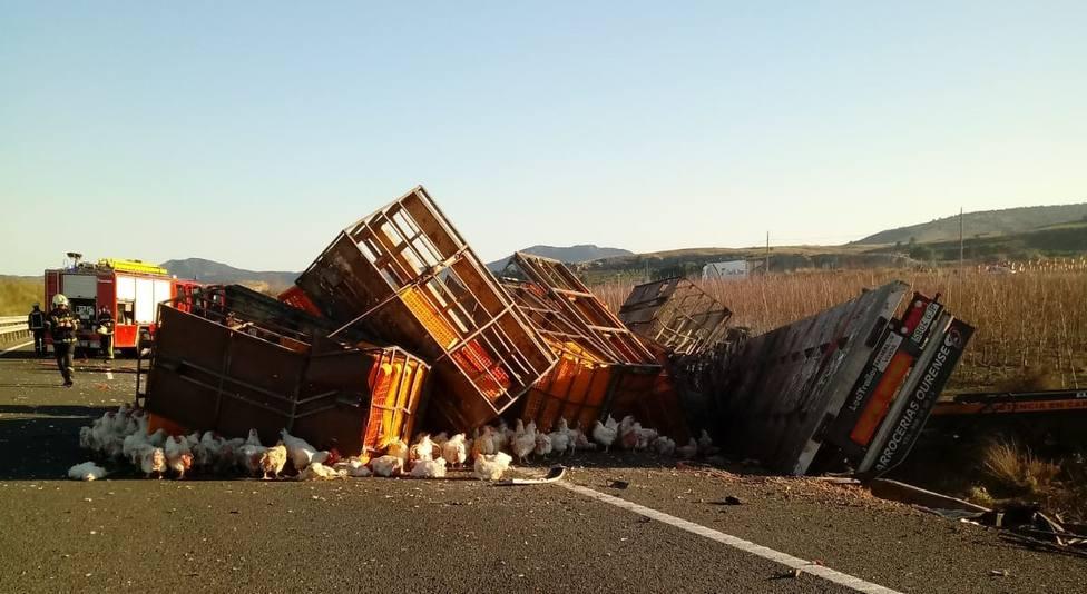 Foto accidente A30 en Hellín