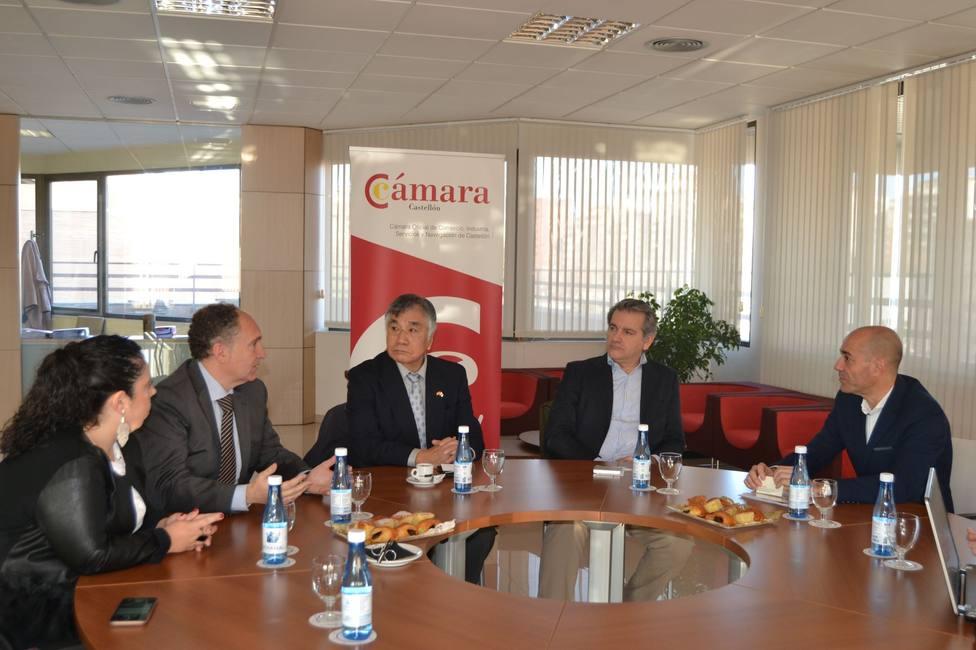 Reunión con la Cámara de Comercio de Castellón de la de la empresa Kimura Co, Ltd.