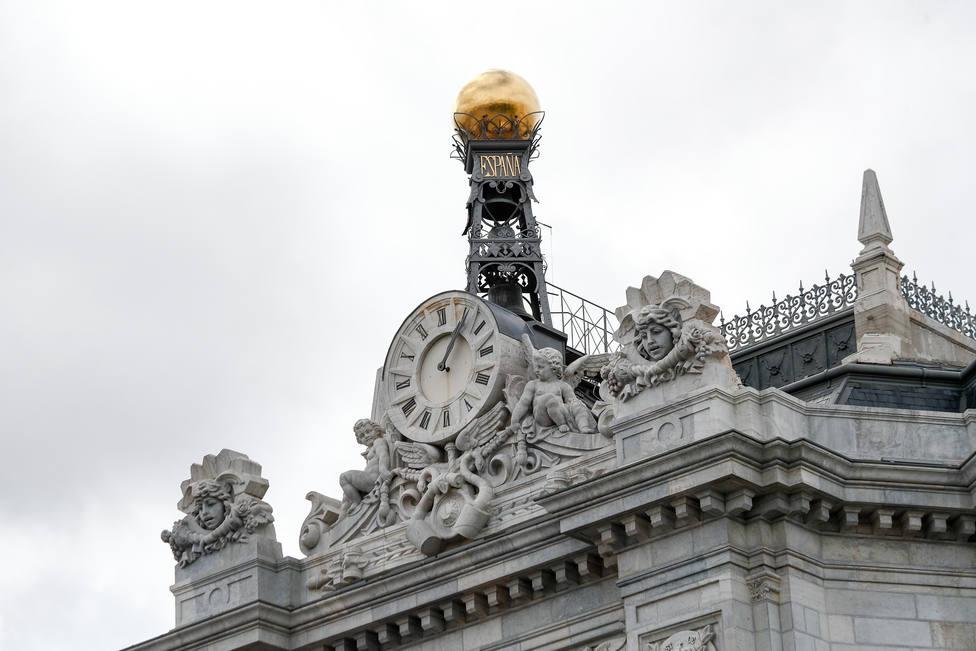Fachada del Banco de España situada frente a la Cibeles en Madrid