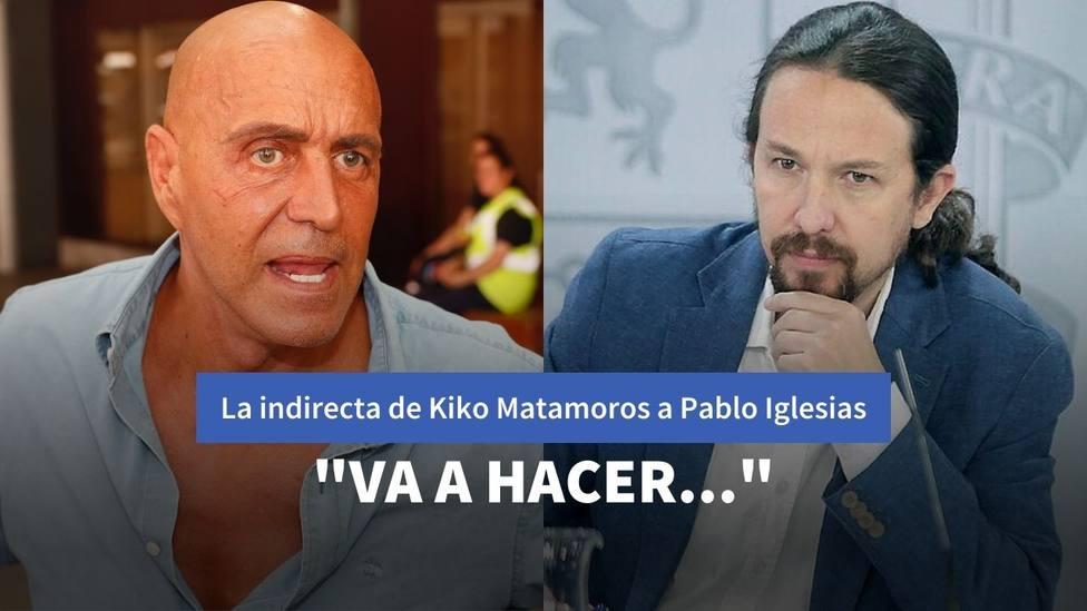 Kiko Matamoros y Pablo Iglesias