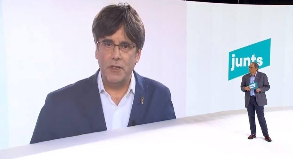 Puigdemont pide hacer de JxCat una herramienta no sectaria para alcanzar la independencia