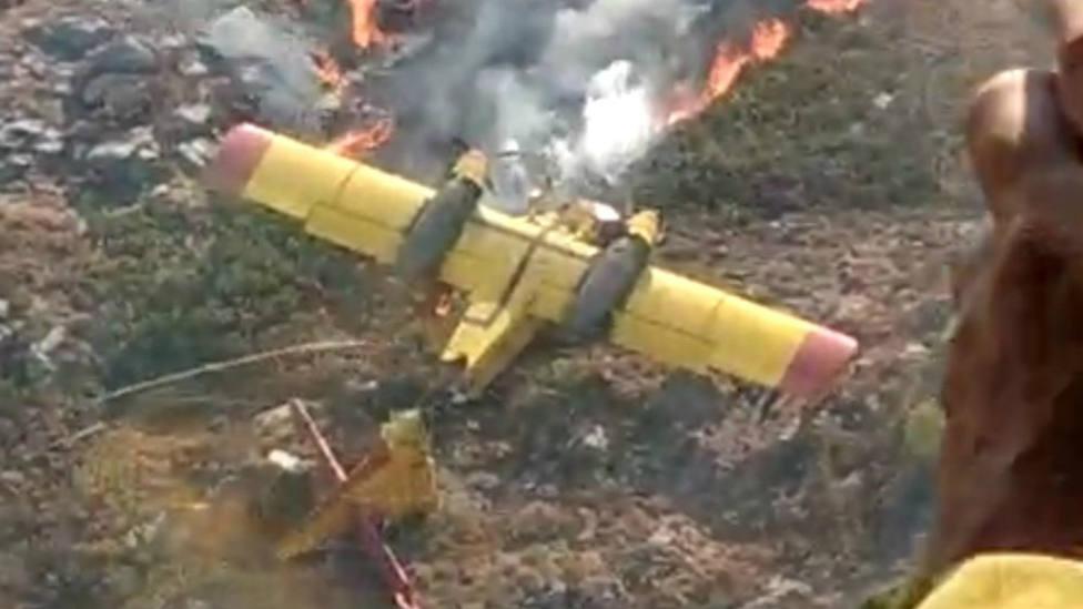 Imagen del avión portugués siniestrado en Orense