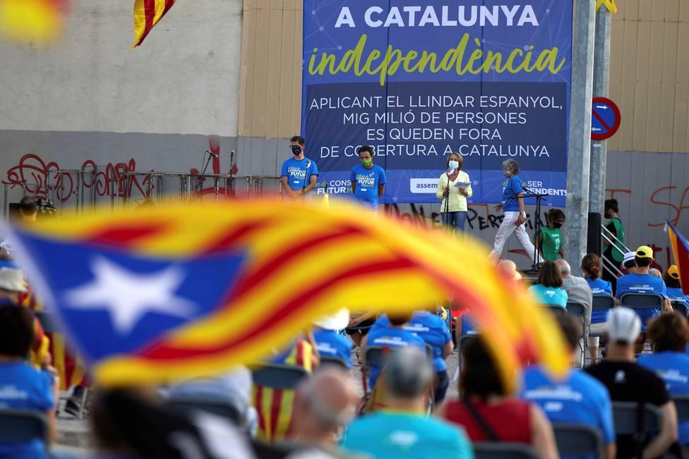 El independentismo exhibe su división en una Diada apagada