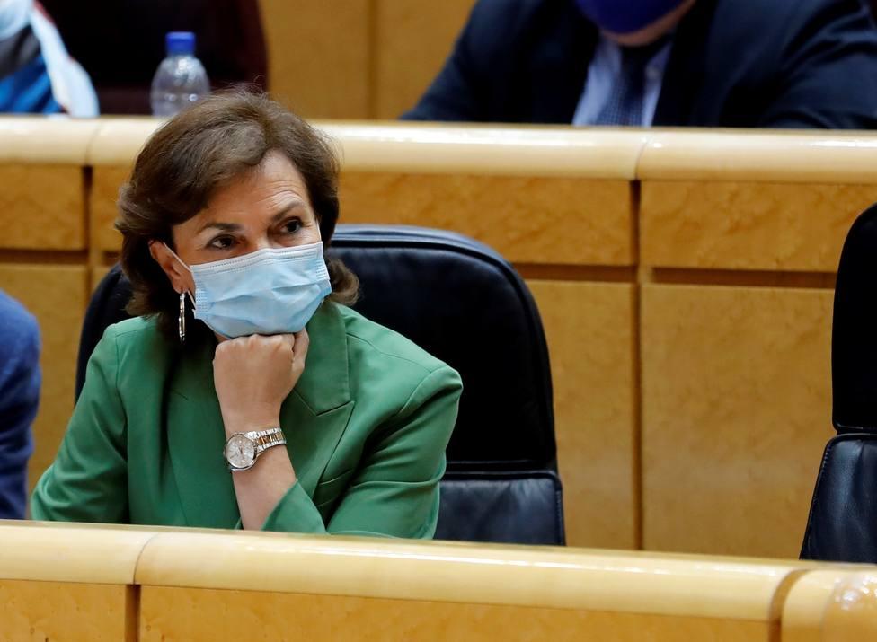 Carmen Calvo aboga por convocar cuanto antes mejor elecciones en Cataluña