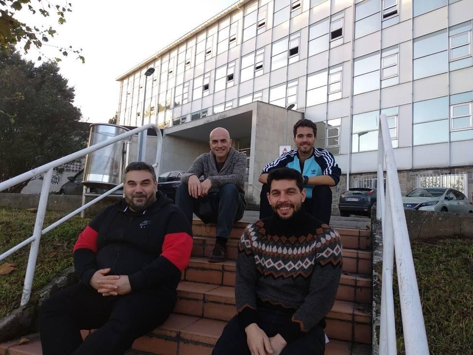 José Luis Casteleiro, Héctor Quintián, José Luis Calvo Rolle y Esteban Jove en la EUP de Ferrol