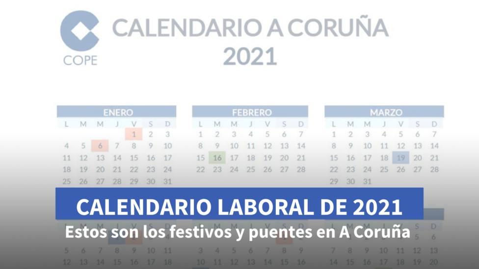 Calendario Laboral A Coruña tarjeta