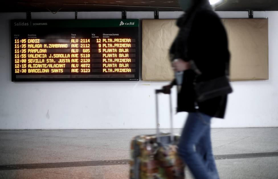 Filomena obliga a suspender todos los trenes con origen o destino en Madrid