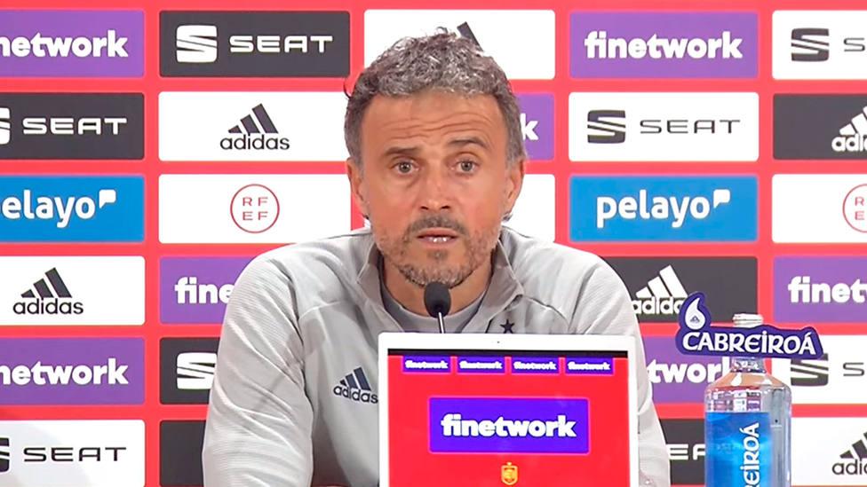 Luis Enrique, en la rueda de prensa previa al partido frente a Kosovo en Sevilla