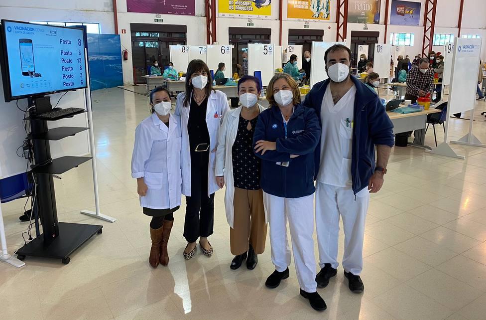 Enfermeras del Área Sanitaria de Ferrol este miércoles den FIMO - FOTO: Área Sanitaria de Ferrol