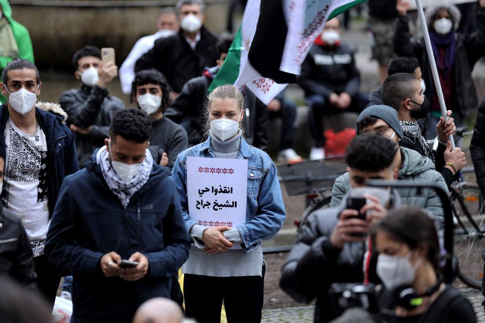 Cientos de personas protestan en Berlín por la ofensiva israelí en Gaza