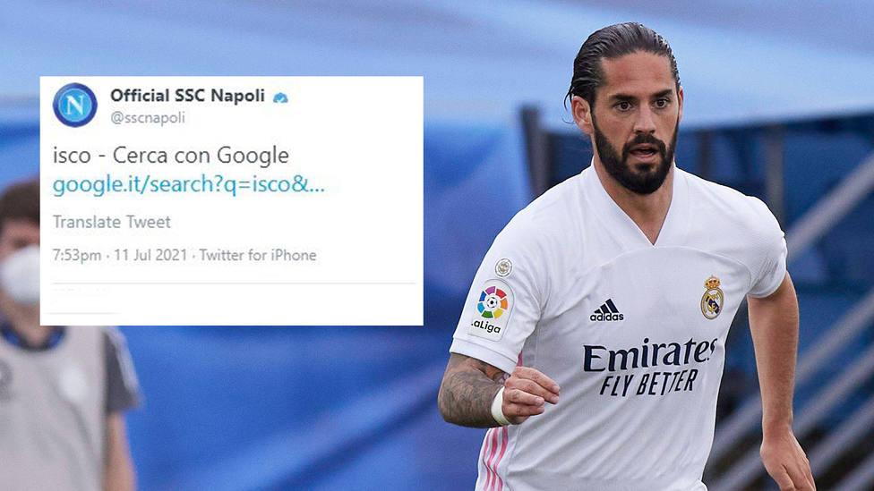 El enigmático tuit desde la cuenta del Nápoles sobre Isco