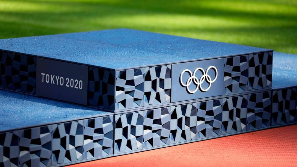 Podio que se utilizará en las entregas de medallas de los JJOO de Tokio 2020 (FOTO: COE)