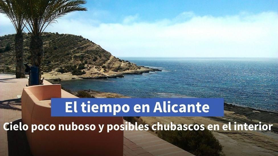 Precipitaciones débiles y aisladas para este miércoles en la mitad norte de Alicante