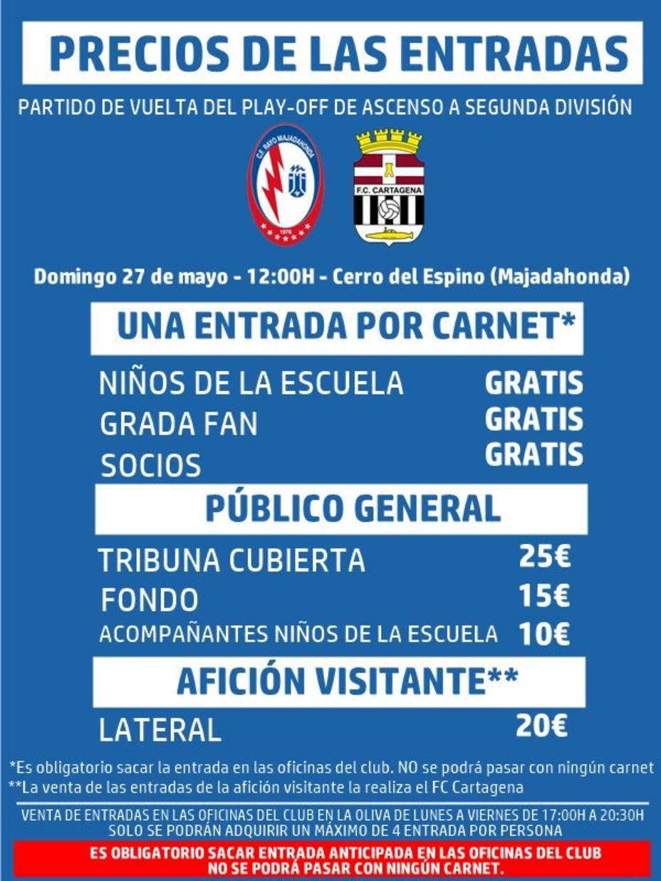 El Cartagena tendrá que repartir de las entradas