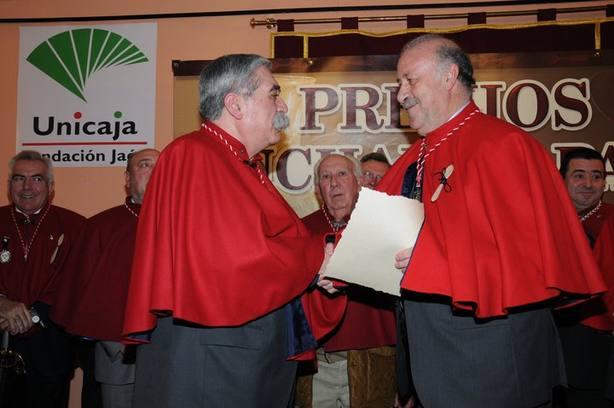Vicente del Bosque recoje su distinción como Premio Nacional Cuchara de Palo