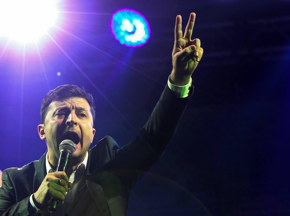 El comediante ucraniano Vladímir Zelenski durante un espectáculo en Kiev (Ucrania)