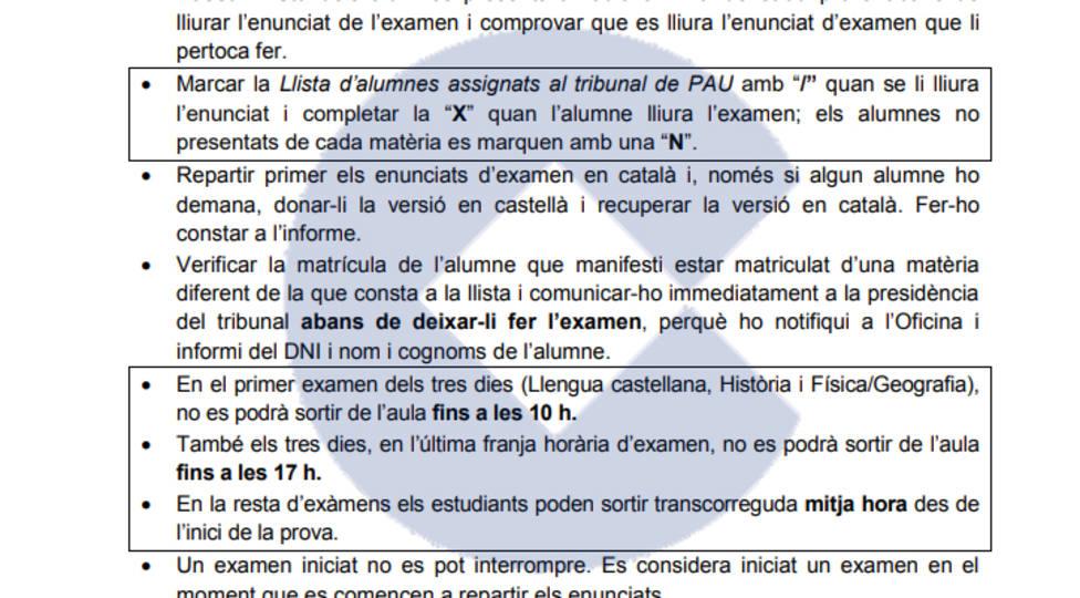 """Denuncian que pedir el examen de selectividad en castellano es """"una incidencia"""" en Cataluña"""