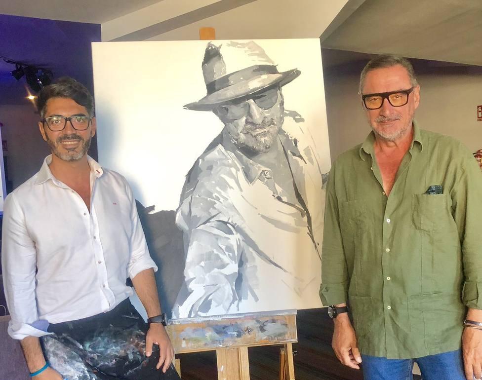 El original retrato con el que un artista ayamontino ha sorprenido a Herrera