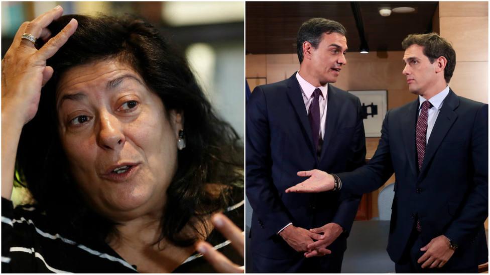 El exceso verbal de Almudena Grandes contra Albert Rivera