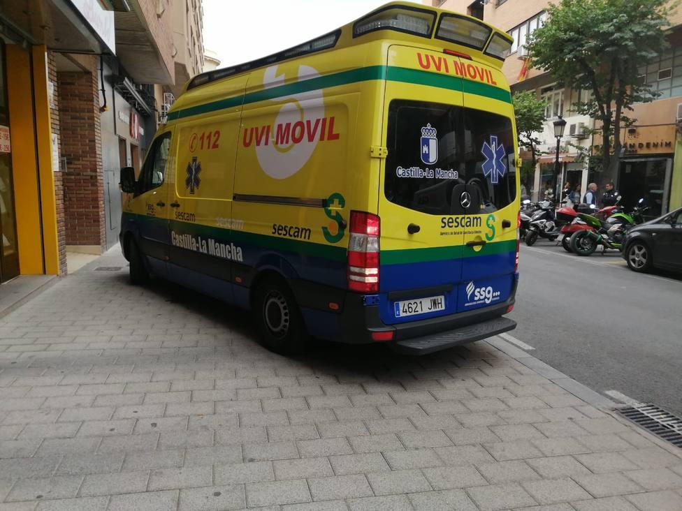 Ambulancia en las calles de Albacete