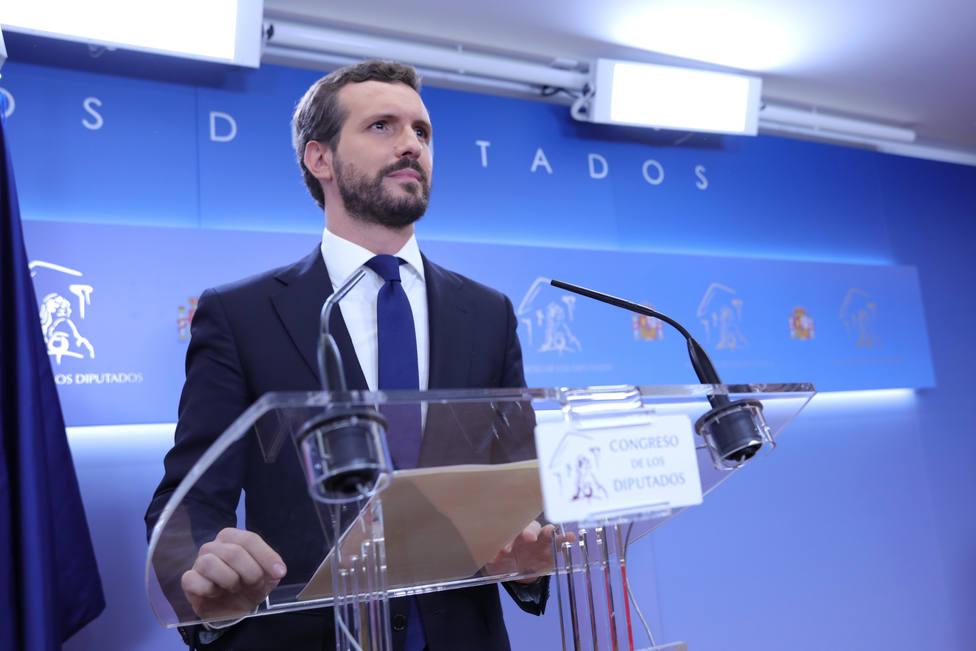 Pablo Casado, amenazado de muerte en Twitter por el Servicio Andaluz de Empleo