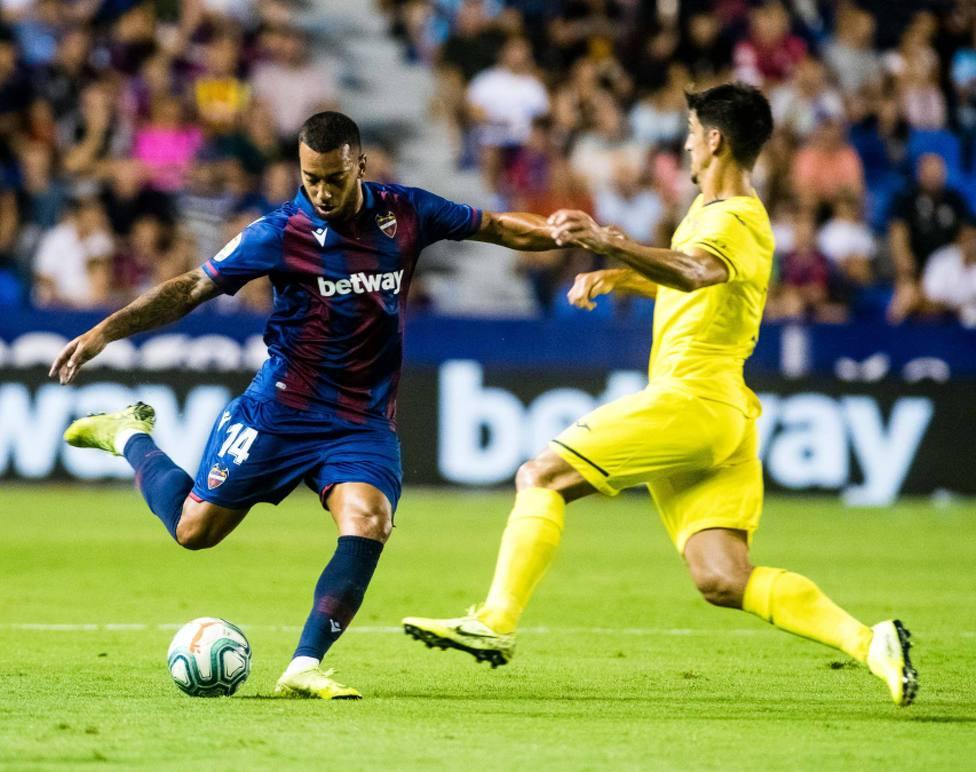 Vezo, en el Levante UD-Villarreal CF de la primera vuelta