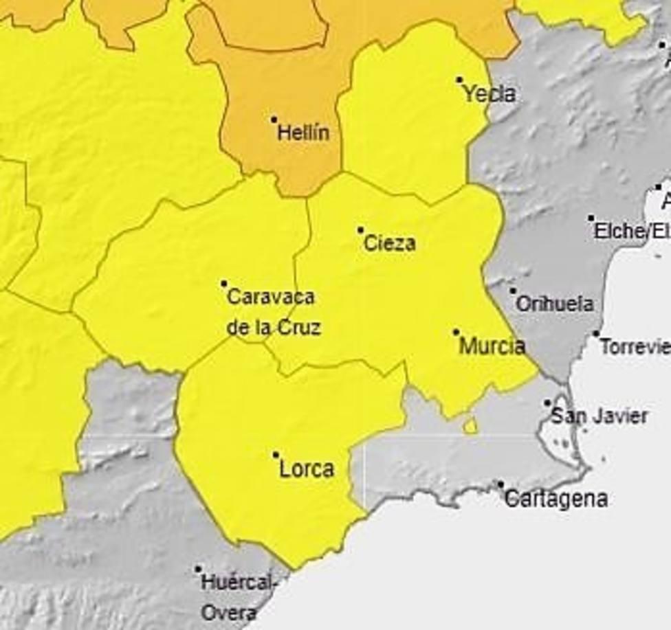 La Aemet establece para el domingo fenómenos adversos de nivel amarillo por temperaturas de hasta 39 grados
