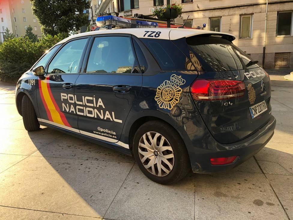Foto de archivo de un vehículo de la Policía Nacional en Ferrol