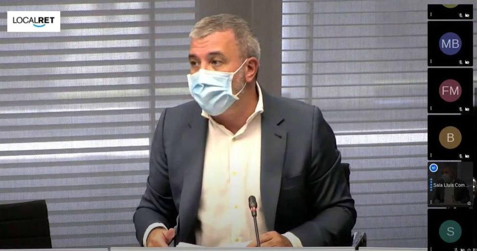 El primer teniente de alcalde de Barcelona, Jaume Collboni, durante la Comisión de Economía y Hacienda.