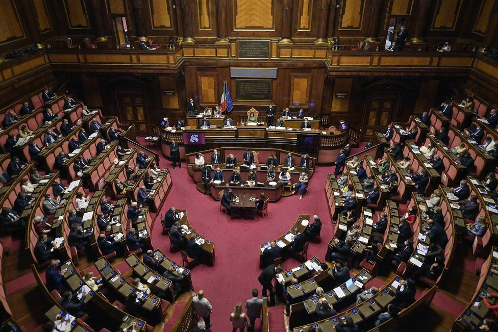 Italian Senate session on post-pandemic economic recovery package