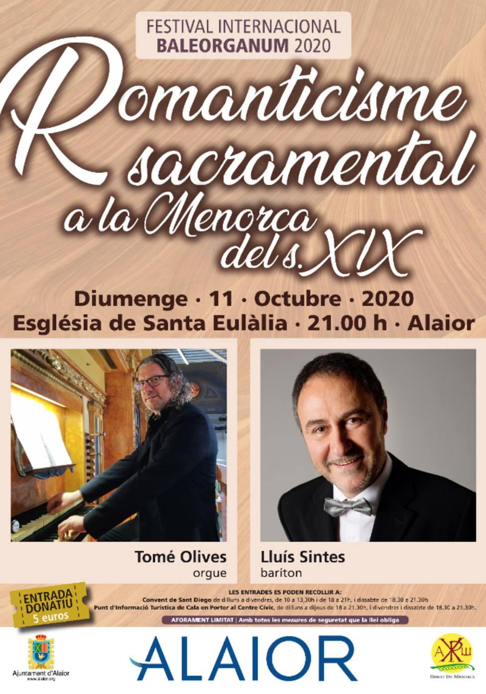 Lluís Sintes y Tomé Olives llevan el Romanticismo