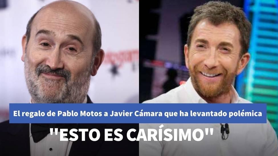 El regalo de Pablo Motos a Javier Cámara en El Hormiguero que ha provocado una lluvia de críticas