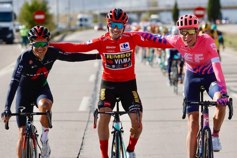 Podio de La Vuelta 2020