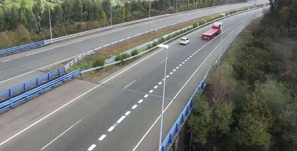Autovía del Cantábrico a su paso por Asturias (foto recurso)