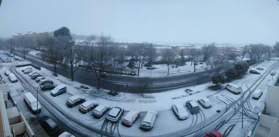 Nieva en Ciudad Real
