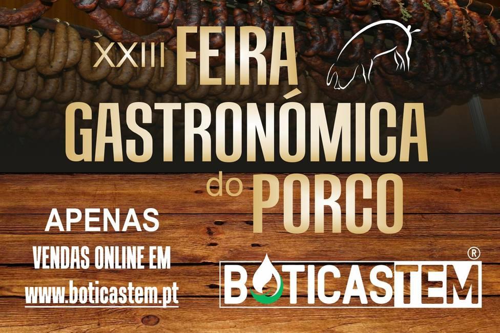 Cartel anunciador de la Feira do Porco de Boticas.