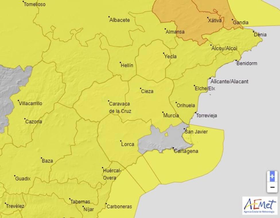 Meteorología advierte de viento de hasta 80 km/h y temporal en la costa para el viernes