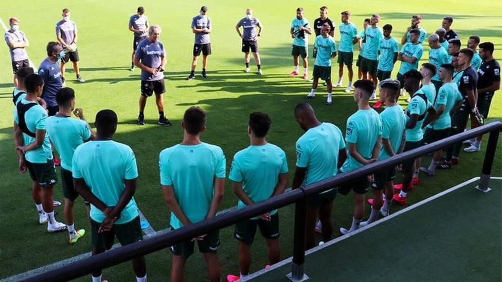 Pellegrini pide ambición a los jugadores del Betis
