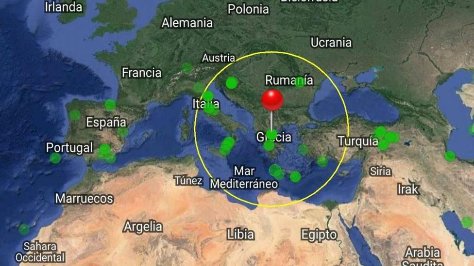 Epidentro de los terremotos que han afectado a la Grecia Central