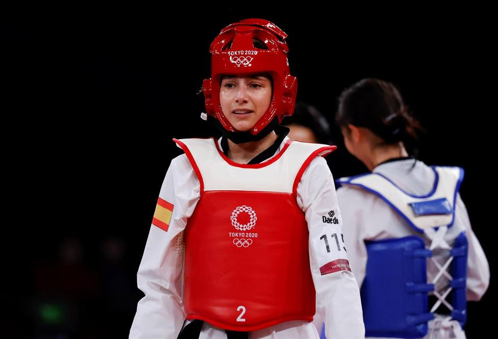 Adriana Cerezo tras ganar la plata en Taekwondo.