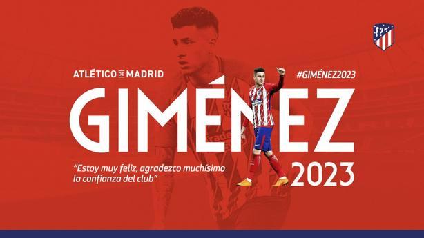 Giménez renuva con el Atlético de Madrid hasta 2023