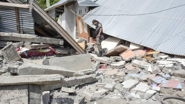 Terremoto del pasado 29 de julio en la isla de Lombok, Indonesia