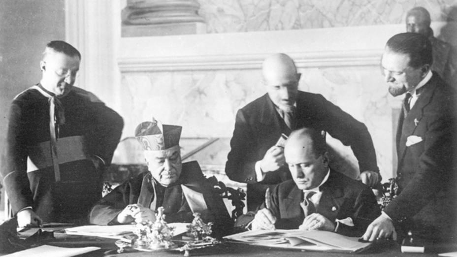 Firma de los Pactos de Letrán
