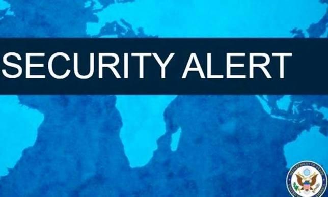Alerta de la embajada de EEUU
