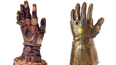 A la izquierda el relicario de Santa Teresa de Ávila y a la derecha el guante de Thanos, de Los Vengadores