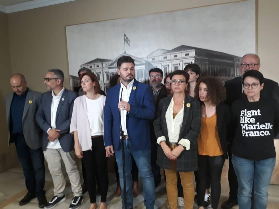 Rufián cree que Iceta no quería ser elegido para el Senado y confirma que PSOE y ERC mantienen contactos pese al veto
