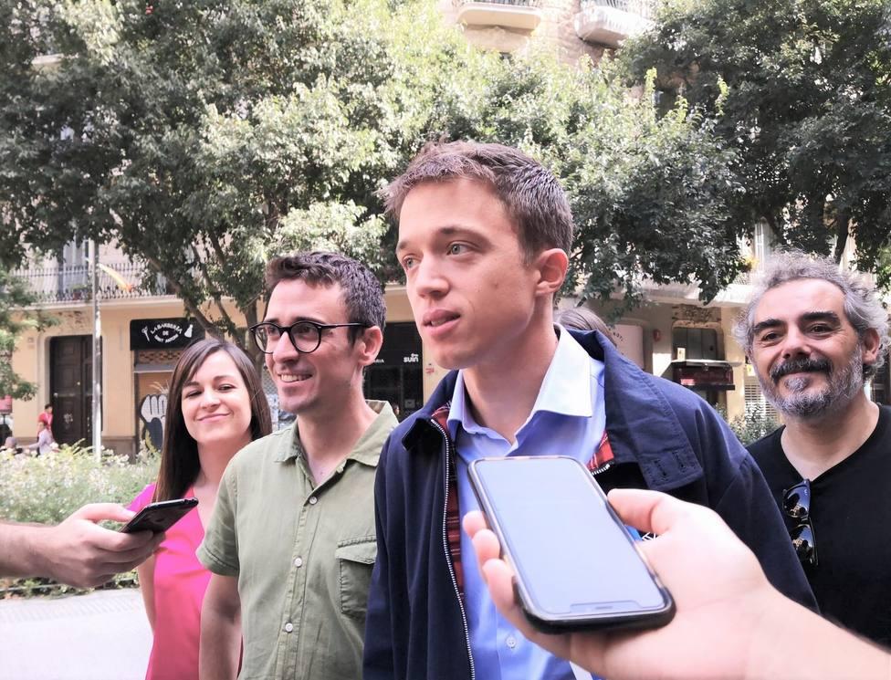 Errejón pide unidad a los partidos ante la situación en Cataluña y que no se use como munición electoral