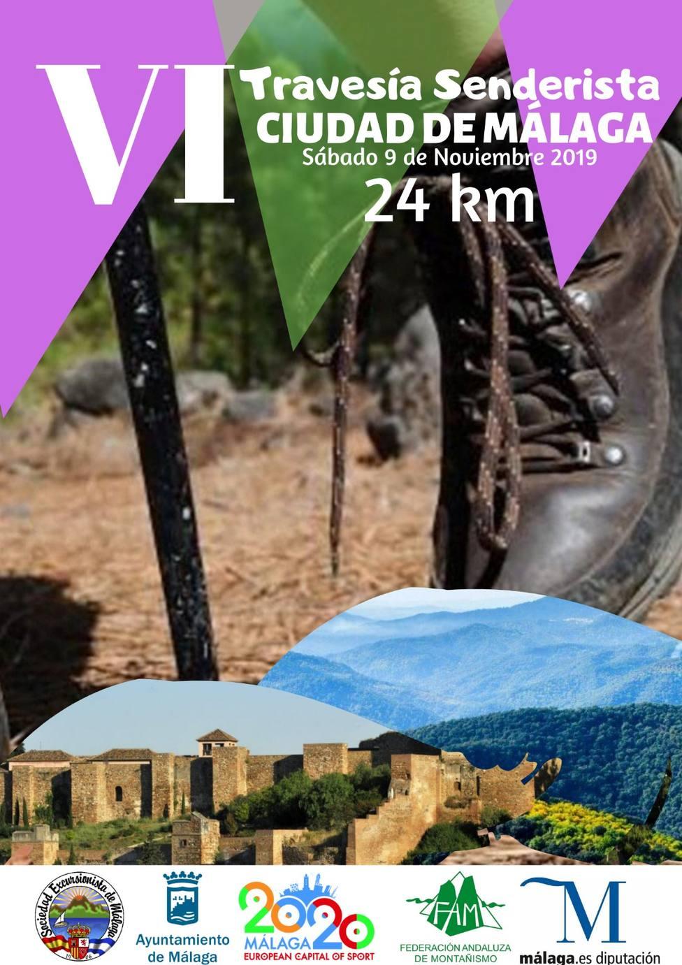 Los Montes de Málaga acoge la sexta travesía senderista Ciudad de Málaga