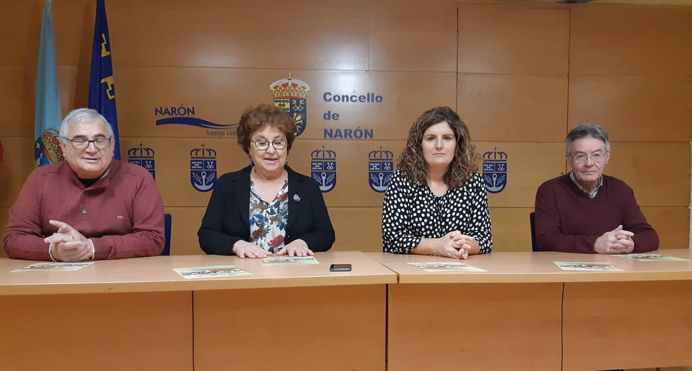 Participantes en la presentación de los actos que organizará Narón - FOTO: Concello de Narón