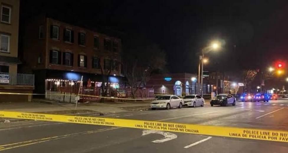 Zona acordonada por la Policía de Hartford
